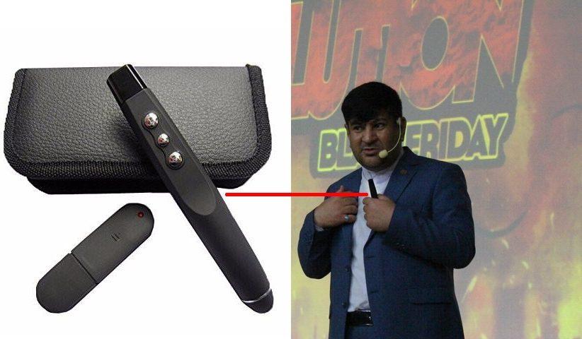 haghverdi use wireless usb laser pointer remote control 822x480 - پرزنتر چیست؟