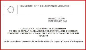 protection of consumers in particular minors in respect of the use of video games 300x175 - سند اتحادیه اروپا در حفاظت از مصرف کنندگان، به ویژه کودکان، در رابطه با استفاده از بازی های ویدئویی