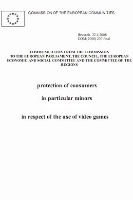 protection of consumers in particular minors in respect of the use of video games.shop  - سند اتحادیه اروپا در حفاظت از مصرف کنندگان، به ویژه کودکان، در رابطه با استفاده از بازی های ویدئویی