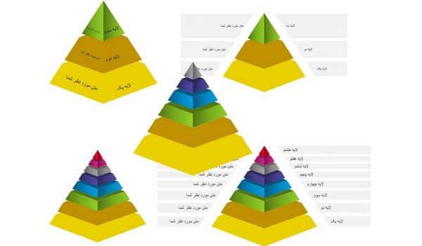 PowerPoint.Diagrams.Pyramids.3d.1.p1 600x350 - پاورپوینت . نمودار هرم سه بعدی یک