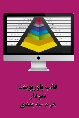 PowerPoint.Diagrams.Pyramids.3d.1.shop  - پاورپوینت . نمودار هرم سه بعدی یک