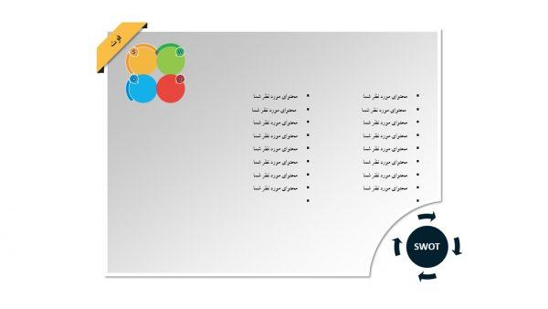 PowerPoint.D.A.SWOT .3.w.2 600x338 - پاورپوینت . تجزیه و تحلیل SWOT . مدل 3