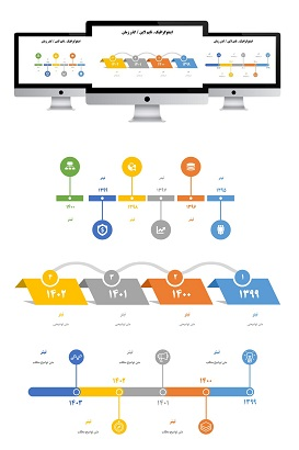 powerpoint.infografic.timeline.widescreen.1.f.shop  - پاورپوینت | اینفوگرافیک | تایم لاین | 1