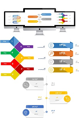 powerpoint.infografic.timeline.widescreen.4.shop  - پاورپوینت | اینفوگرافیک | تایم لاین | 4