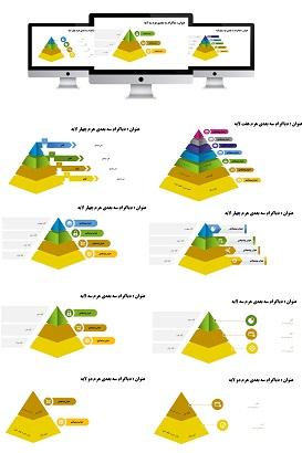powerpoint.infografic.PYRAMID.widescreen.3.shop  - قالب پاورپوینت | هرم | اینفوگرافیک | 3